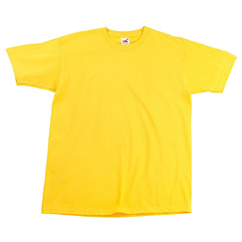 Fruite of the Loom Super Premium T-Shirt, vers.Farben Sunflower
