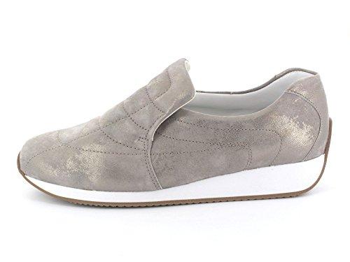 Ara-12-42602 Gil femme Sneaker cuir gris moyen