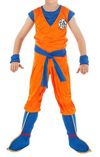 Für Kostüm Kind Goku - CoolChange Dragon Ball Son Goku Kinder Kostüm mit Überschuhen, Größe: 140