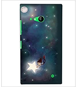 PrintDhaba Flying Doll and Stars D-2236 Back Case Cover for NOKIA LUMIA 730 (Multi-Coloured)