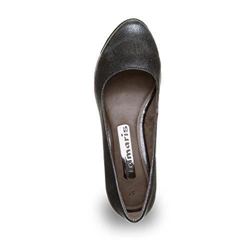 Tamaris 1-22435-27 Scarpe Col Tacco da donna Nero (Black Metallic)