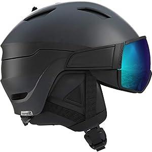Salomon Herren Driver S Ski- und Snowboardhelm, mit Visier, OTG-Lösung für Brillenträger, EPS 4D-Innenschaum