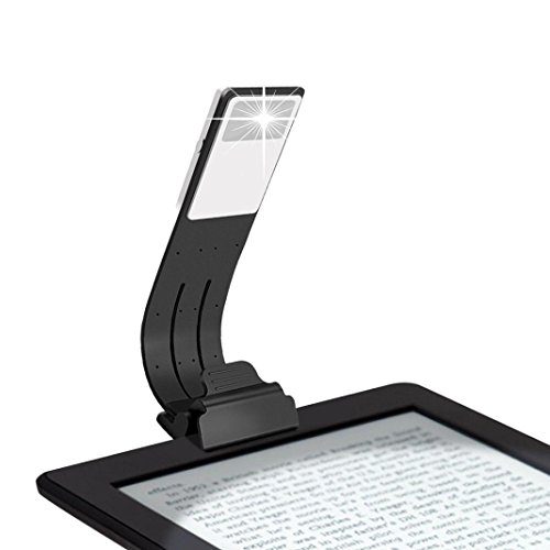 LCLrute Gute Qualität Buch Licht USB Leselicht mit 4-Stufen Einstellbare Helligkeit Augenschutz LED Nachtlicht Für Lesen Bett Bett Licht Für Kinder (Schwarz) (Einstellbare Schwarz Ziel)