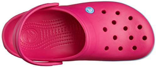 Crocs Crocband - Sabots - Mixte Adulte Rose (Candy Pink/Bluebell)