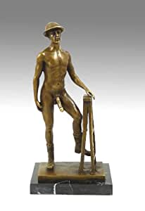 "Sexe/érotique Gay-Naked Man ""Sculpture en Bronze signée Par M. Nick"
