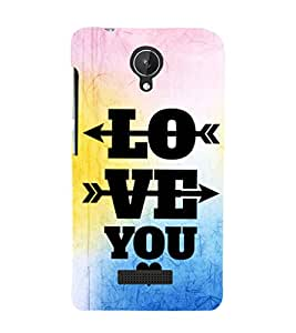 EPICCASE love arrows Mobile Back Case Cover For Micromax Canvas Spark Q380 (Designer Case)