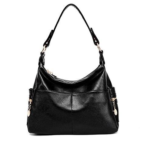 4eaec0cdd7 Toupons Borsa da donna a tracolla moda casual borsa a mano in pelle PU(nero
