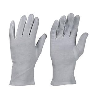 12 Paar Baumwollhandschuhe Trikot Handschuhe Stoffhandschuhe weiß, Gr. 10
