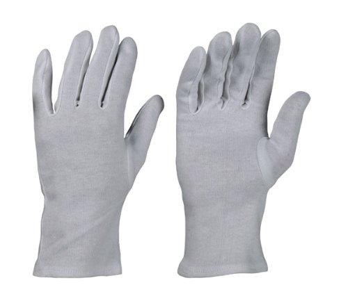Preisvergleich Produktbild 12 Paar Baumwollhandschuhe Trikot Handschuhe Stoffhandschuhe weiß,  Gr. 10