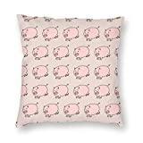 B.L.KLEEN Pig Throw Pillow Cover, Daily Decorative Square Throw Pillows Cases for...