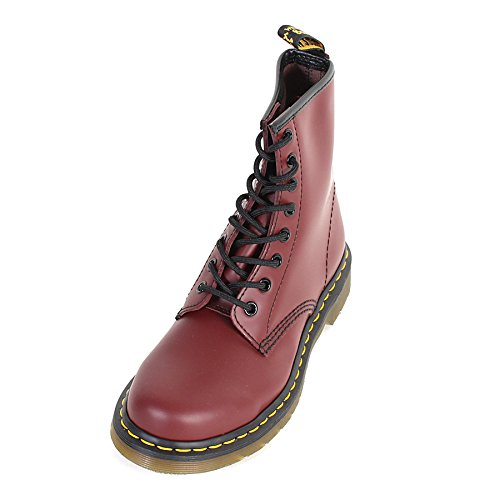 Dr. Martens Women's 1460 W 8-Eye Smooth Lace up Boot Cherry Red