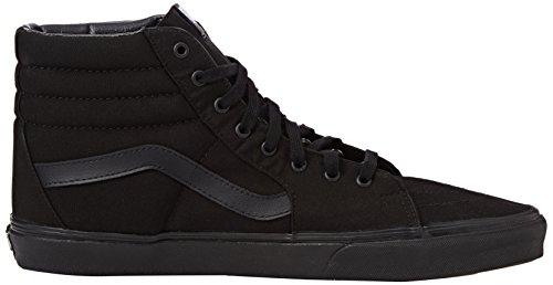 Vans Sk8-hi Scarpe da Ginnastica Basse, Unisex Adulto Nero (Black/Black/Black)