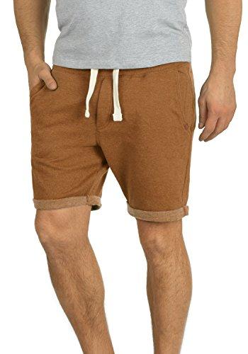 Blend Timo Herren Sweatshorts Kurze Hose Sport-Shorts aus Hochwertiger Baumwollmischung Slim Fit Stretch, Größe:XXL, Farbe:Rust Brown (71512)