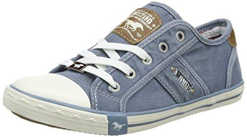 MUSTANG Damen 1099-302-807 Sneaker, Blau (Himmelblau 807), 40 EU