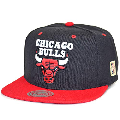 Mitchell & Ness - Casquette Snapback Homme Chicago Bulls Classic - Black/Red