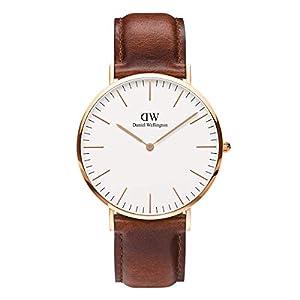 DANIEL WELLINGTON – Reloj de los Hombres de 40 mm, MAWES Oro Rosa