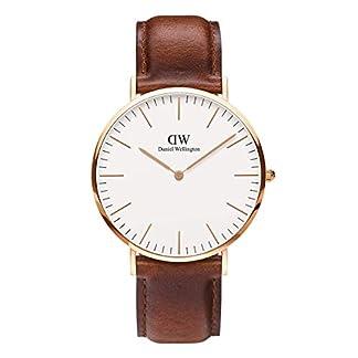 DANIEL WELLINGTON – Reloj de los hombres de 40 mm, DANIEL WELLINGTON MAWES ORO ROSA DW00100006