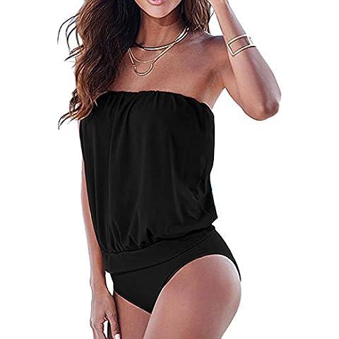 Fortan Le donne di un pezzo sexy senza spalline Bandage Swimwear del costume da bagno del bikini Body