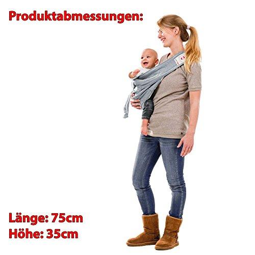 Lodger Shelter 2.0 - 3in1 Babytrage, Babytragetuch, Babysling sowie Transportdecke für Babys und Eltern, ab Geburt bis 18 Monate (max. 12kg), Sicheres Verschlusssystem, Trage-Tuch für Babys und Kinder, Schönes Design, Neu und OVP - 7