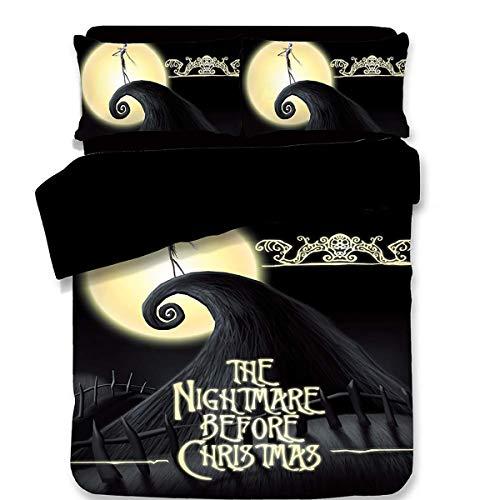 Horror Night Screaming Juego Cama Navidad Duvet Cove