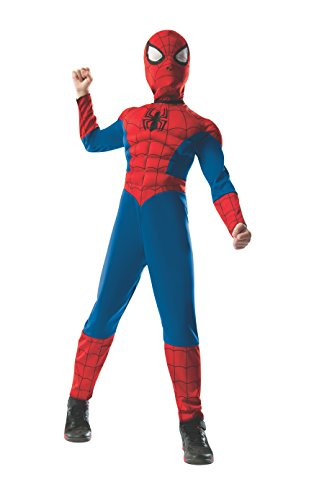 Rubie's Marvel Ultimate Spider-Man 2-in-1 Reversible Spider-Man / Venom Muscle Chest Costume, Child Medium - Medium One Color by (Venom Spiderman Kostüm)