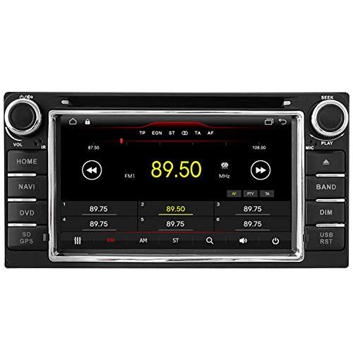 Autosion Armaturenbrett Navigation Android 6.0Auto DVD-Player GPS Sat-Nav Kopfeinheit Stereo, für Toyota RAV4Corolla Hilux Camry Vios Prado Tundra Sequoia Bluetooth-Radio SD USB WiFi DVR 1080P Toyota Sat-radio