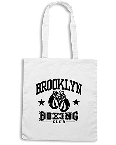 T-Shirtshock - Borsa Shopping TSTEM0014 brooklyn boxing light Bianco