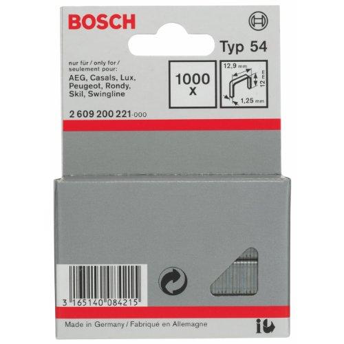 Bosch 2609200221 Agrafe à fil plat de type 54 12,9 x 1,25 x 12 mm 1000 pièces