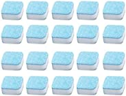 20PCS Laundry Effervescent Tablets Washing Machine Effervescent Tablets Cleaner Laundry Deep Cleaning Remove O