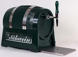 Getränke-Durchlauferhitzer 9kW , Fassform , 1-leitig, mit elektrischer Pumpe , dunkelgrün oder schwarz