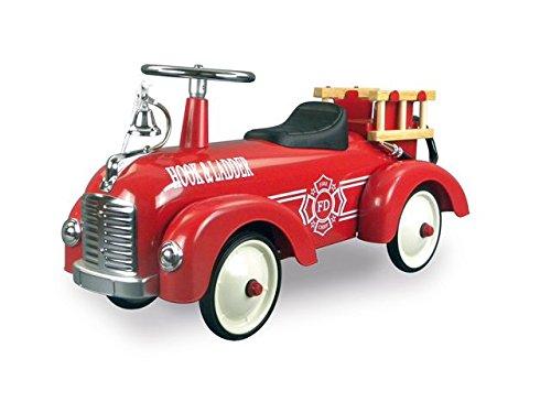 Retro Bobby Car Feuerwehr rot