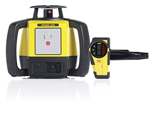 Leica Rugby 610 1650ft Self Leveling Rotating Laser Kit with Rod Eye Basic Receiver by Leica Geosystems