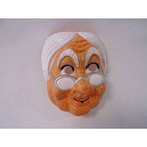 Nette Großmutter Gesichtsmaske Alte Frau Maske Omamaske Oma Maske Faschingsmaske Karnevalsmaske Greisin Karnevalsmaske