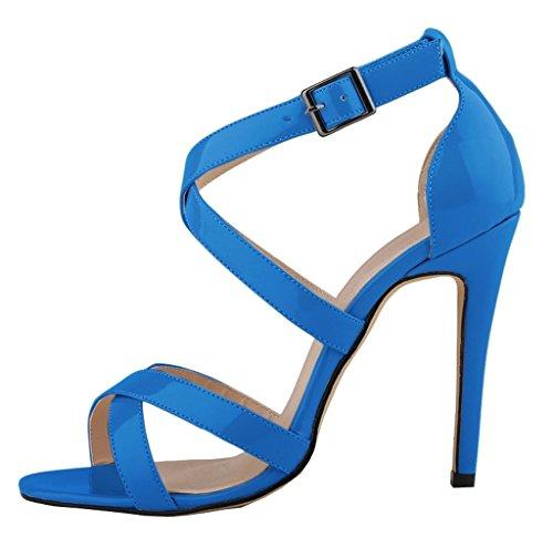 Blau cinturino caviglia con Donna Kolnoo alla Scarpe qwYCF0z