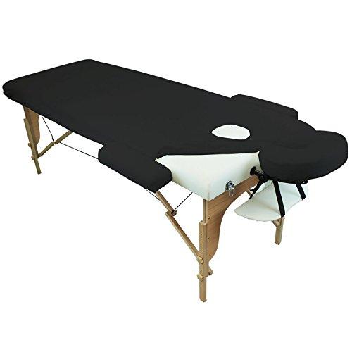 Vivezen Drap housse de protection 4 pièces en éponge pour table de massage