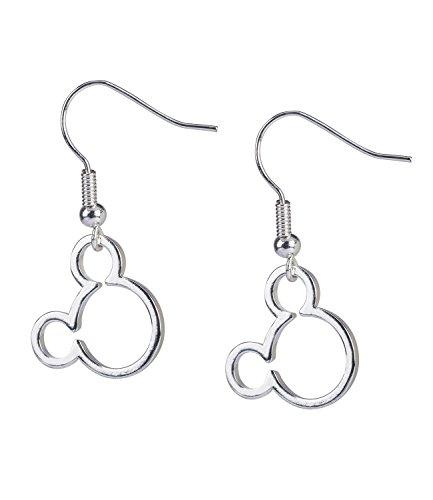 (SIX Disney Adults, Micky Maus Ohrringe, silber, mit Micky Kopf, für Kinder und Erwachsene (761-299))