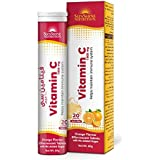 SUNSHINE NUTRITION Vitamin C 1000 Mg Orange Flavor Effervescent Tablets, 80 g