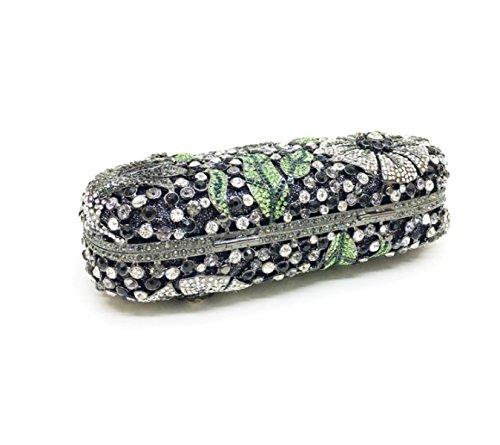 Strawberryer Hollow Hand-paste Forage Europe Et Les États-Unis High-end Soirée Soirée Sac De Soirée Banquet Décoré Handle Bag silver