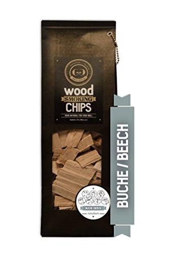 Grillgold Wood Smoking Chips – copeaux de bois d'hêtre pour fumage 1,75 Liter