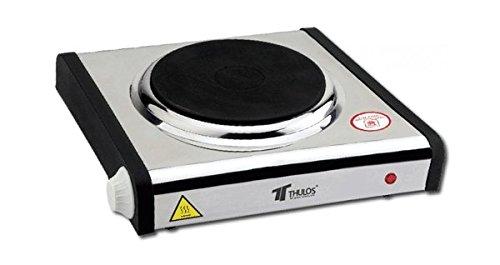 Cocina eléctrica Acero INOX 1 Quemador Thulos TH-CE1000E/1P 1000W portatil