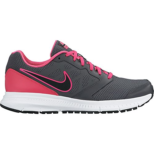 Nike Wmns Downshifter 6, - homme Dark Grey/Black-Pink Foil-White