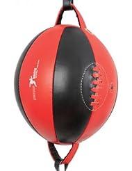 Precision Training - Pera de boxeo para hombre (piel), color rojo y negro
