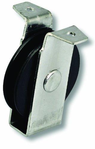 Chapuis VPCP2 Polea de chapa de acero galvanizado - 40 kg - Rueda diámetro 60 mm - Para cuerda de 8 mm de diámetro