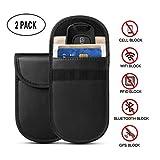 Keyless Go Schutz Autoschlüssel, WIRSV Auto Signal Keyless Schlüsseletui Funkschlüssel Abschirmung, RFID Key Safe Strahlenschutz Tasche (2 Packung)