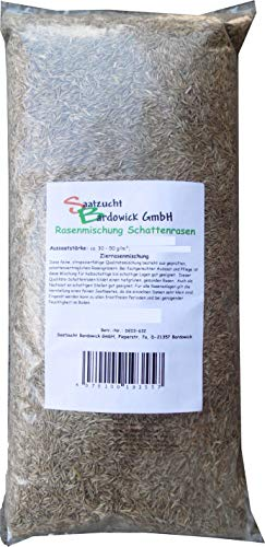 Rasen Schattenrasen Grassamen Rasensamen Rasensaat Gras 2,5kg Gras - Qualität zum Fairen Preis !