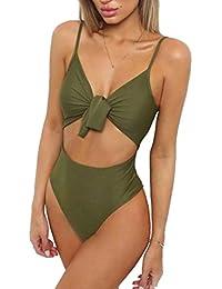 Conjuntos bikinis mujer,Morwind sólido bañadores con bowknot push up acolchado bra playa braguitas tangas tankinis trajes ropa de baño