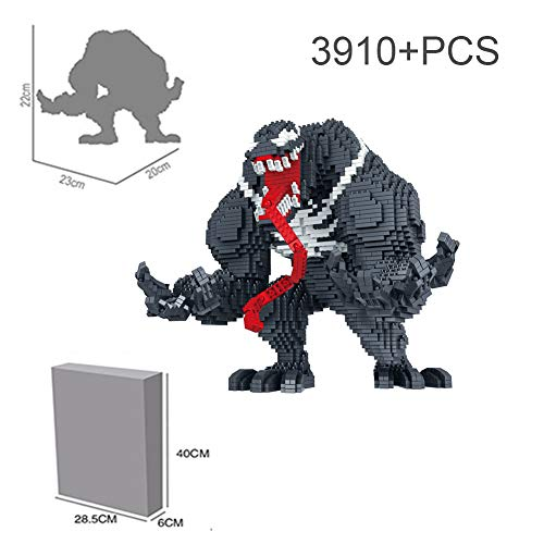 HLDX 3910 + pcs Superhero Venom Baustein 9 * 8.6 * 7.8 Zoll, um die Welt zu retten