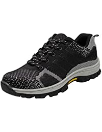 05f774d768e Zapatillas de Seguridad para Hombre Antideslizante Calzado de Trabajo para  Ligeras Comodas 35-46