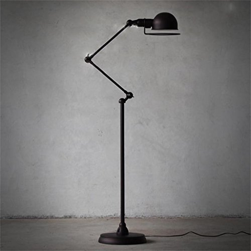 TOYM-Europäische minimalistischen Schlafzimmer Wohnzimmerlampe kreative amerikanische retro schwarz mechanischen Arm Stehlampe