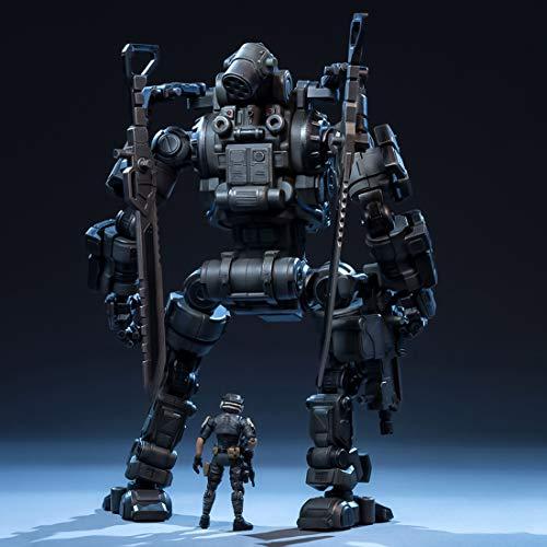 TONGJI Großes Mecha-Modell Double Militia Assault 28cm + Soldat-Modell Soldaten Figur 7.5cm Abnehmbares DIY Modell Spielzeug Für Dekoration Und Sammlung - Mech-modell-kit